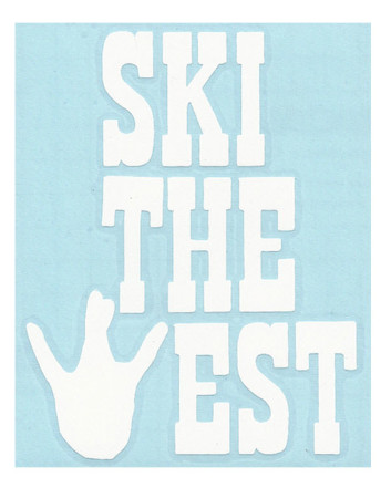 Ski The West Sticker by New Growth