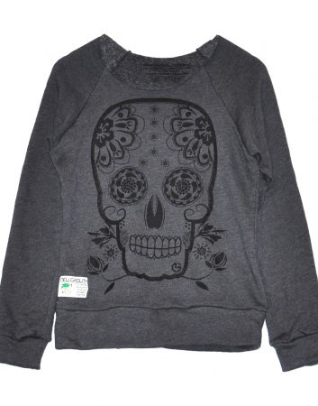 womens_slouchie_grey_dayofthedead