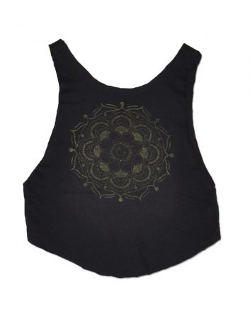 Mandala_croptop_black
